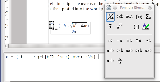 Open Office Equation Editor